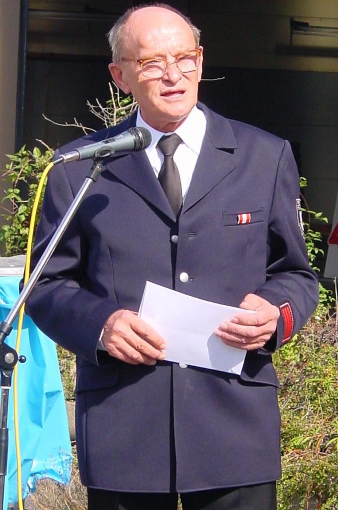 Ein Bild vom ehemaligen Löschgruppenführer Klaus Hense
