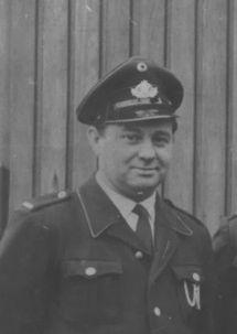 Ein Bild des Löschgruppenführers  Heinz Klotz